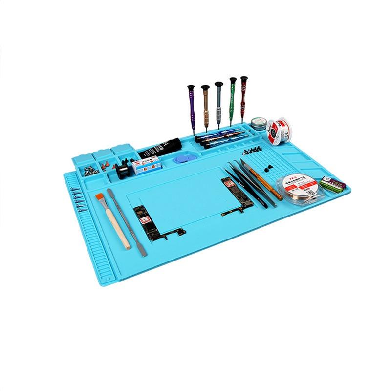 S-160 Magnetic Heat-resistant Soldering Mat Silicone Heat Gun BGA Soldering Station Insulation Pad Repair Tools For Mobile
