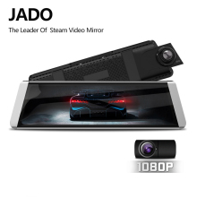 JADO D800s X6 Stream Rearview Mirror  LDWS GPS Track 10 IPS Touch Screen Full HD 1080P Car Dvrs  Dash cam kafuweier pc4002i convenient 11 long bent nose pliers tool silver black red