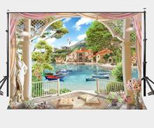 7x5ft Family Spring Outing Backdrop Beautiful Lake Scene Photography Background Outgoing Photo Video Shooting Props