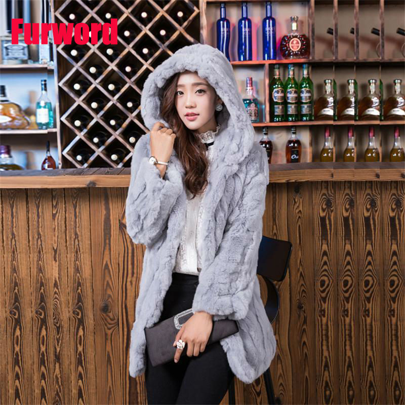 New Pattern Fashionable Fur Long Sleeve Cap Female Tan Sheep Loose Coat Russia Woman Thickening Lined Large Size Winter Jacket Women's Clothing Real Fur