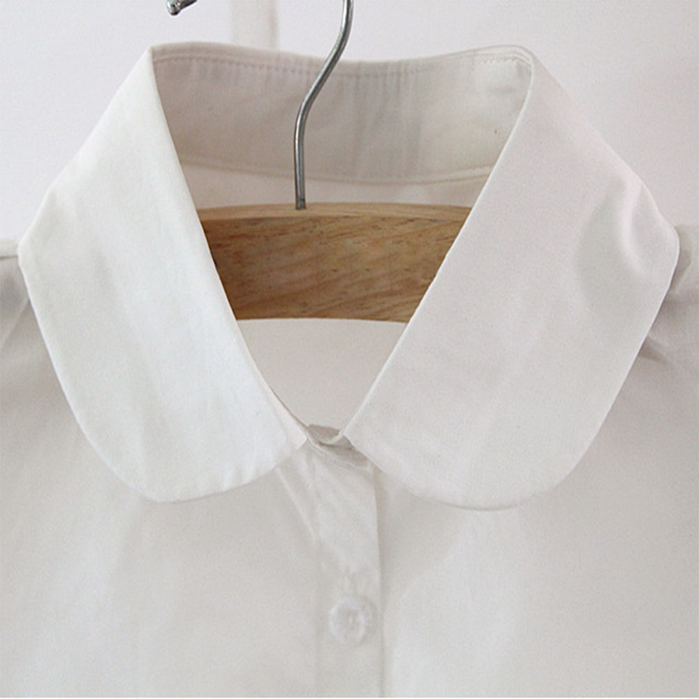 Detachable Women Shirt Fake Collar Cotton Solid Color Lapel False Blouse Top Sweater Neckwear Ladies Clothes Accessories GDD99