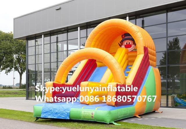 Los fabricantes que venden toboganes inflables, castillo Inflable de diapositivas de color Payaso KY-680