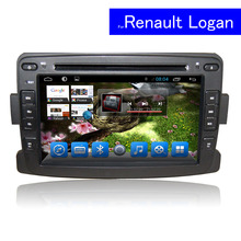 Single Din Android Car DVD GPS for Renault Logan Radio Audio Player with 3G WIFI Bluetooth Touch Screen Car Stereo Navigation