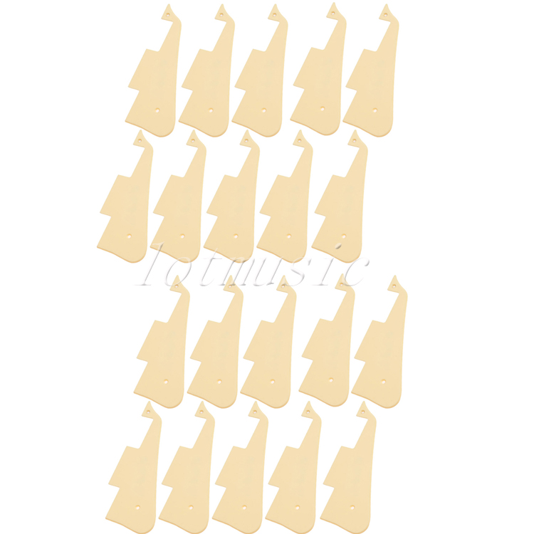 20Pcs Gloss Plastic Guitar Pickguard Plate for Electric Guitar Repacement musiclily 3ply pvc outline pickguard for fenderstrat st guitar custom