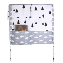 Crib Baby Bed Bumper with Hanging Storage Bag
