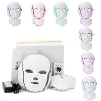 7 цветов светодиодный светодиодная маска для лица и шеи омоложение кожи электрическая Антивозрастная маска для лица