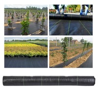 Heavy Duty PP Wide Weed Barrier Control Fabric Ground Cover Membrane Garden Landscape Driveway Weed Block Nonwoven 1M*50M