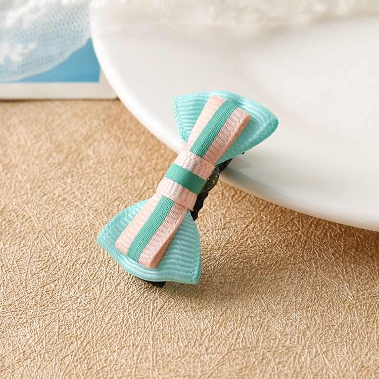 1 pieza caliente Color caramelo lazo horquilla sólido/punto/Flor impresión cinta BB pinzas para el cabello para niñas niños Accesorios para el pelo