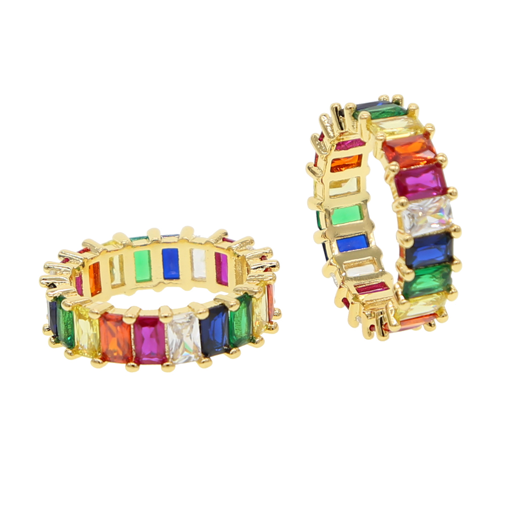 2018-rainbow-baguette-cubic-zirconia-cz-Gold-filled-engagement-band-ring-for-women-USA-hot-selling