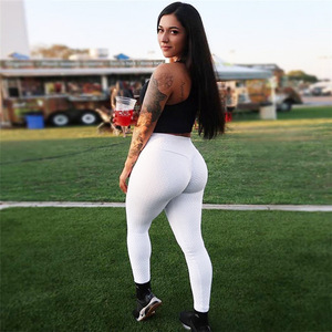 Image 2 - CHRLEISURE الصلبة مثير رفع طماق النساء اللياقة البدنية الملابس عالية الخصر السراويل الإناث تجريب تنفس نحيل طماق 2 اللون