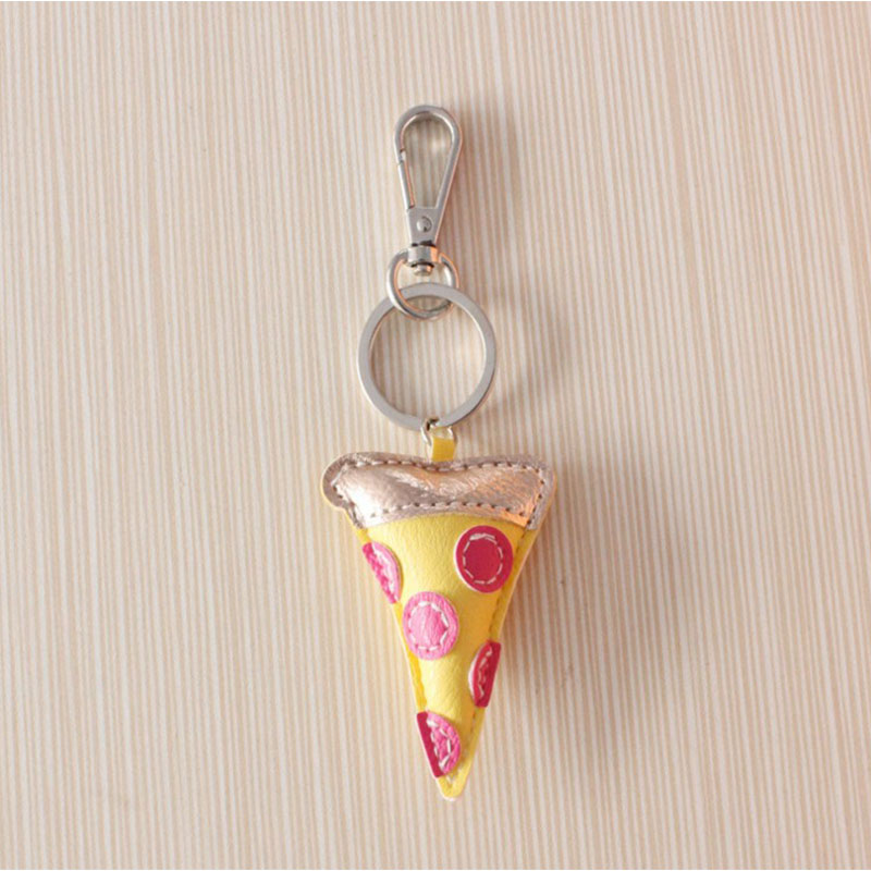 2017 hotCartoon Handbags Pendant Icecream Bottle Leather Pouch Key buckle Bag For Keys Mobile pendant, keychain, gift jewelry