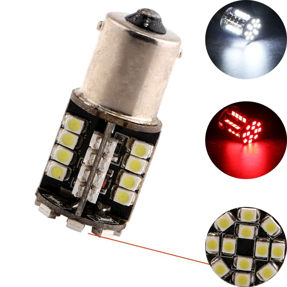 30Pcs lot 1210 3528 44 SMD LED 1156 BA15S 1157 BAY15D Canbus Error Free Decoder Lamp