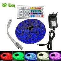 IP65 5m Led Strip 30Leds M DC12V SMD 5050 Waterproof RGB Led Strip Light 44Key IR