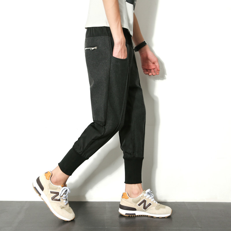 Summer New Pattern Leisure Time Split Joint Ankle Banded Pants Bound Haren Will Code Male Japanese Favourite Free shipping