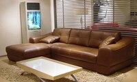 2013 European Modern Design Living Room Furniture Small L Shaped Genuine Leather Corner Sofas Confortable Sofa