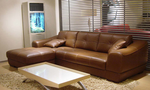 Free Shipping 2013 Euro Modern Design Living Room Furniture Small L Shaped Genuine Leather Corner Sofas