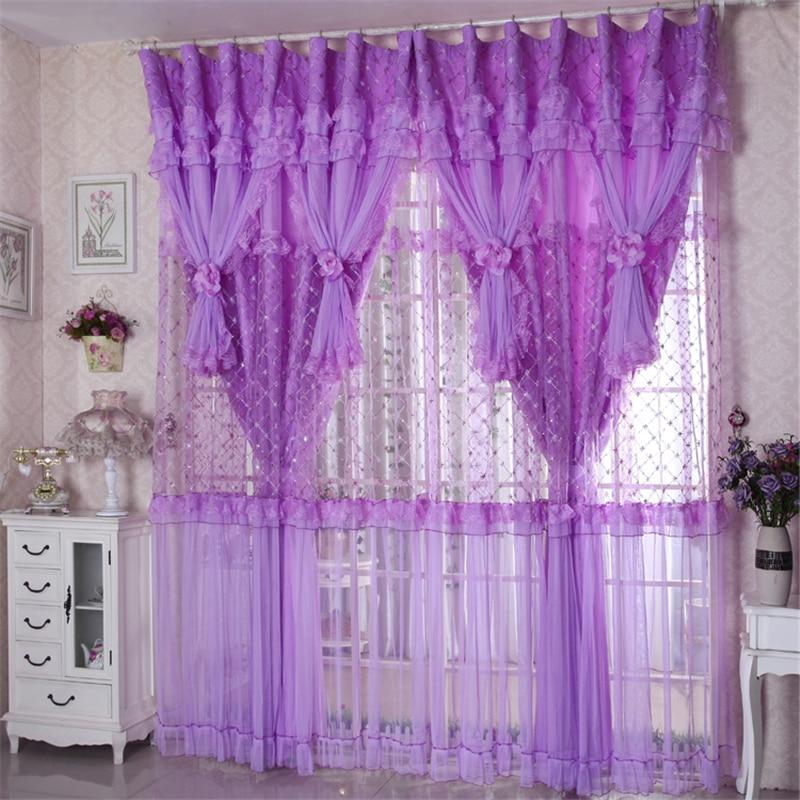 Custom Tulle Korean Romantic Custom Curtains Bedroom