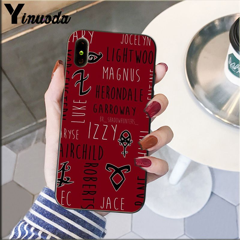 Yinuoda shadowhunters Customer High Quality Phone Case for iPhone 5 5Sx 6 7 7plus 8 8Plus X XS MAX XR in Half wrapped Cases from Cellphones Telecommunications