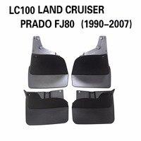 4PCS Rear & Front Car Accessory Mudguard Fender Mud Flaps Splash Guard Black Fit for TOYOTA LC100 LAND CRUISER PRADO FJ80 90 07