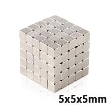 50 шт. мощный N35 неокубный куб магниты неодимовые магниты 5*5*5 мм супер сильный кубом Cube магниты Diy постоянные ndfeb магниты