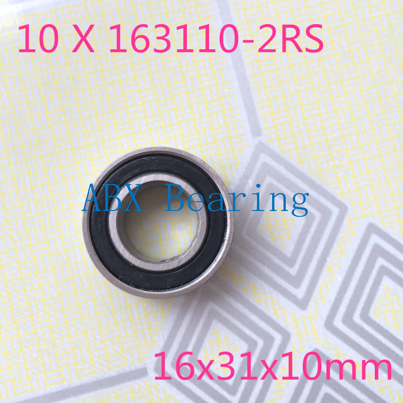 Free shipping 10pcs/lot 163110-2RS 163110 ball bearing 16x31x10mm 163110 2RS bike axis repair bearing unstandard 6002-2RS free shipping 10pcs textile machine embroidery machine parts bearing non standard piece bearing b6003 2rs 15 17 35 10 19