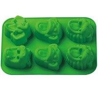 6 wnęka Małpy, lwy, słonie, hipopotamy zwierząt kształt silikonowe formy ciasto Kremówka mold, mydło formy czekoladowe formy do pieczenia narzędzia