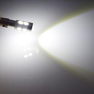 Image 5 - 10Pcs New Bulb 5630 5730 SMD 10 LED H6W BAX9S 150 Degrees LED Lamp For Parking Light /DRL/Front rear Turn Signal lights 12V DC