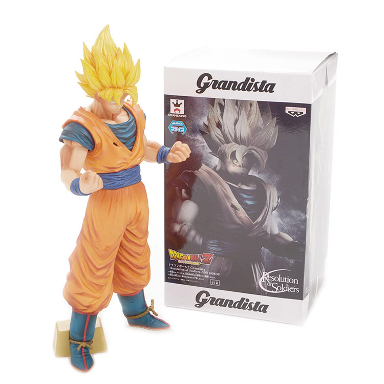 13 Dragon Ball Z Anime ROS Grandista Son Gukou Guku No.93 Boxed 32cm PVC Action Figure Model Doll Toy Gift free shipping 8 dragon ball z anime android no 18 stand ver boxed 19cm pvc action figure collection model doll toy gift