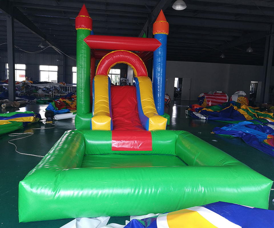 Sea Shipping Inflatable Bouncer Inflatable Water Slide Swimming Pool For Sales