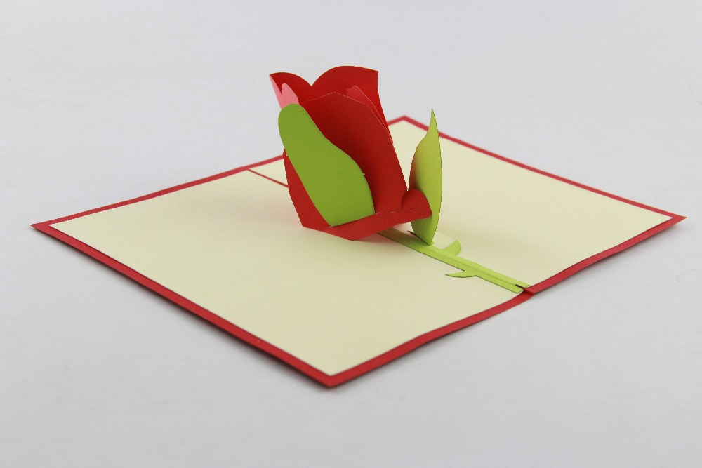 3D Rose Pop up Greeting Cards, Any Occasion Pop up Card, Colletible Greeting Cards creative gifts 3d pop up card greeting