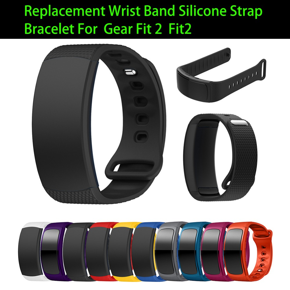 Soft Silicone Replacement Strap Wristband For Galaxy Gear Fit2 / Fit2 Pro SM-R360 Smart Bracelet Watch Belt Wrist Strap ...