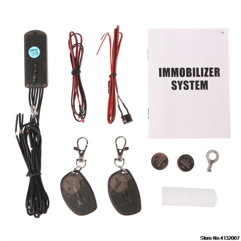 RFID 2.4GHz wireless car immobilizer engine lock anti-hijacking with G-sensor 828 Promotion