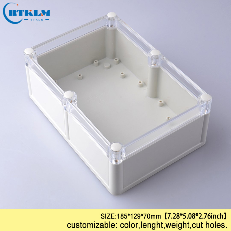 Waterproof electrical connector junction box diy instrument cases transparent enclosure abs plastic project case 185*129*70mm цена