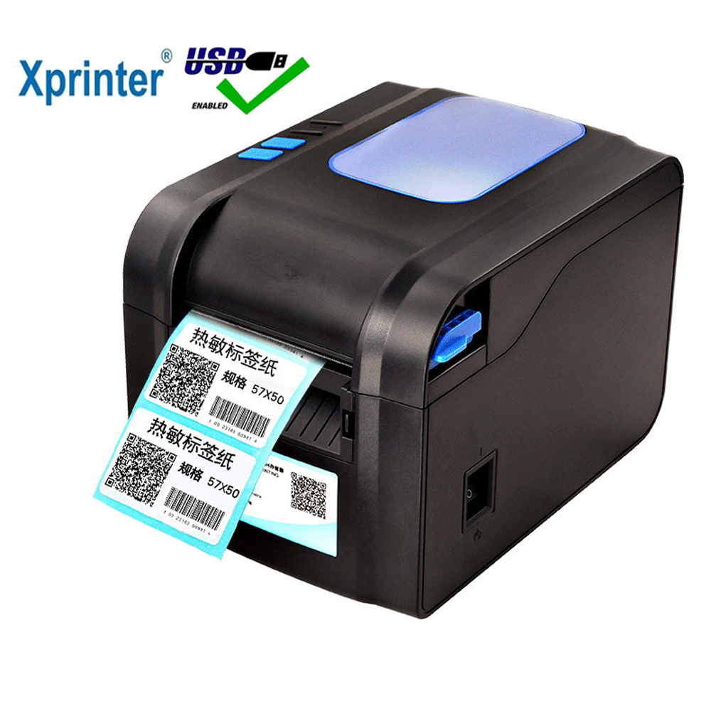 XP-370B label barcode printer thermal receipt or label printer 20mm to 80mm thermal barcode printer automatic stripping ez 1105 thermal barcode printer
