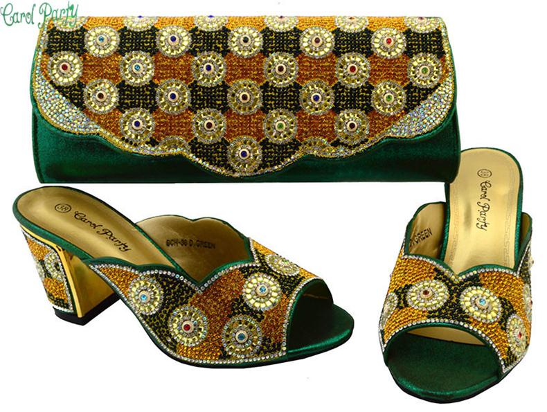 Fashion Shoes and Bag Set African Matching Shoes and Bags for African Party Ladies Matching Shoes and Bag Set for Party BCH-36