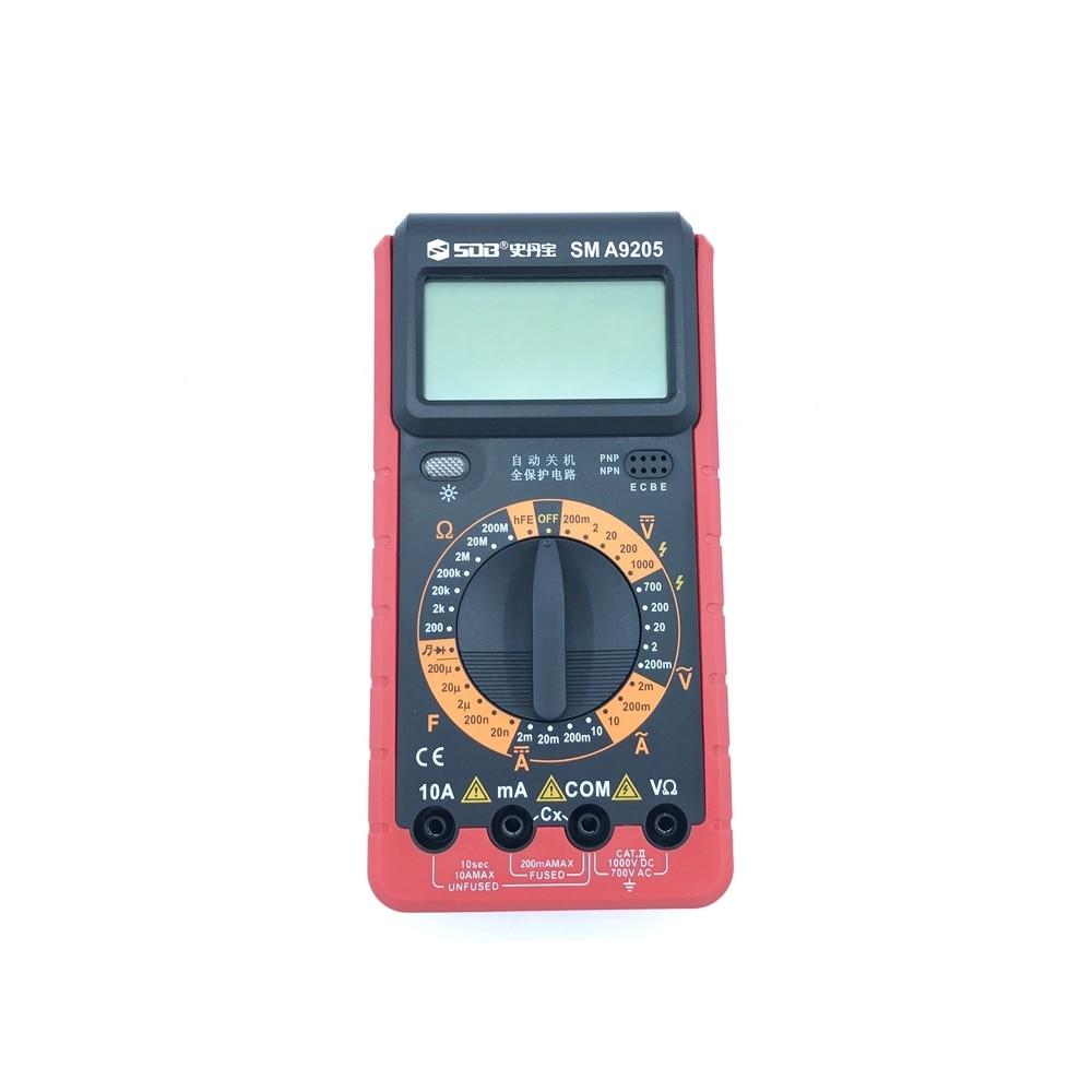 Multimetro digitale A9205 AC / DC Amperometro Capacità Voltmetro Ohm - Strumenti di misura - Fotografia 6