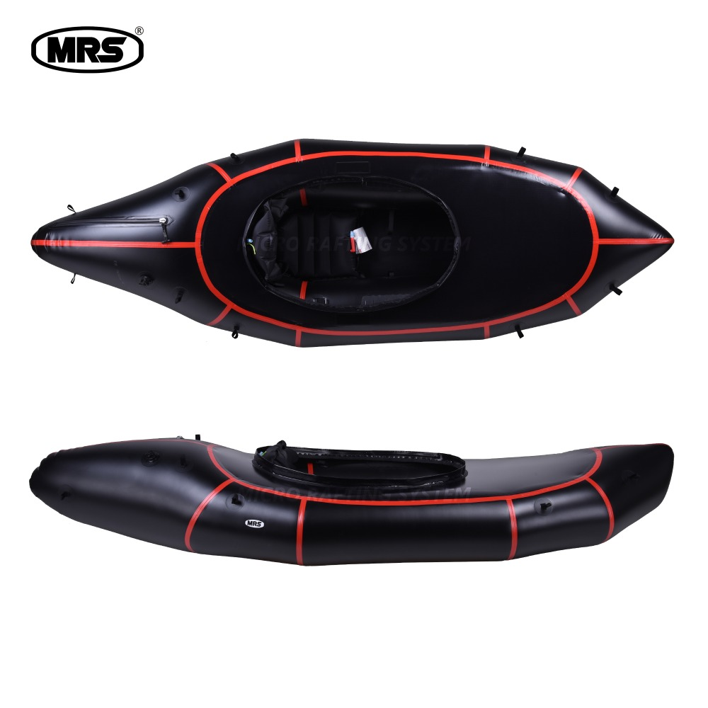 [MRS][Alligator 2S PRO]Micro rafting systems black red strips inflatable ultra-light  packraft white water ISS kayak suit