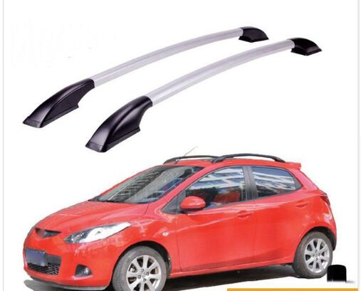 FUWAYDA car styling Roof Rack Boxes Side Rails Bars Luggage Carrier A Set For Mazda 2 2007 -2014 2008 2009 2010 2011 2012 2013 decorative side bars rails roof rack silver fit for 07 12 nissan qashqai dualis 2007 2008 2009 2010 2011 2012 2013