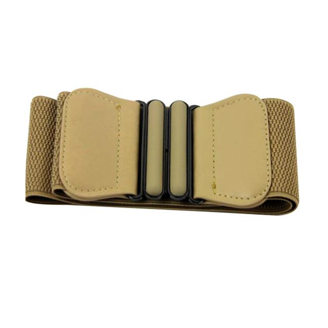 Fashion Lady Solid Stretch Elastic Wide Belt Cummerbund Waistband Women Accessories