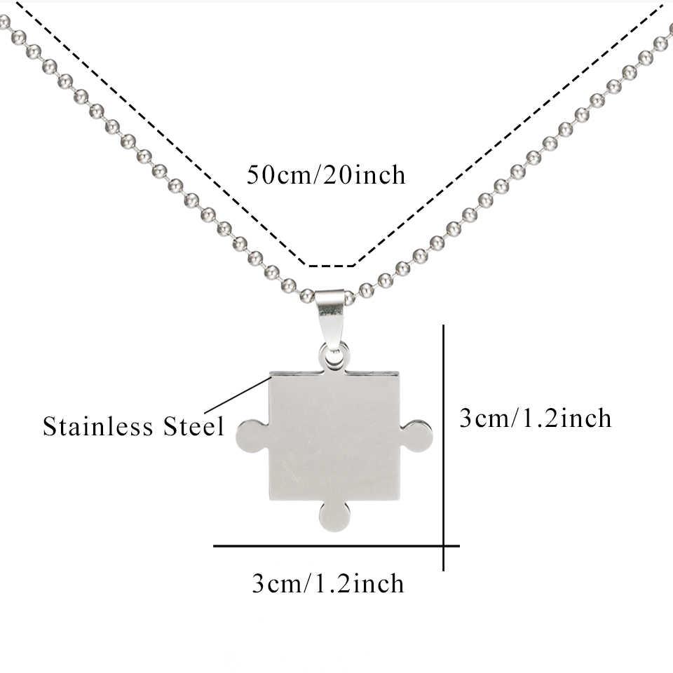 Творческий Мода из нержавеющей стали 2 шт. головоломки ожерелье колье комплект для мужчин и женщин пары прелести ювелирные изделия подарок дропшиппинг