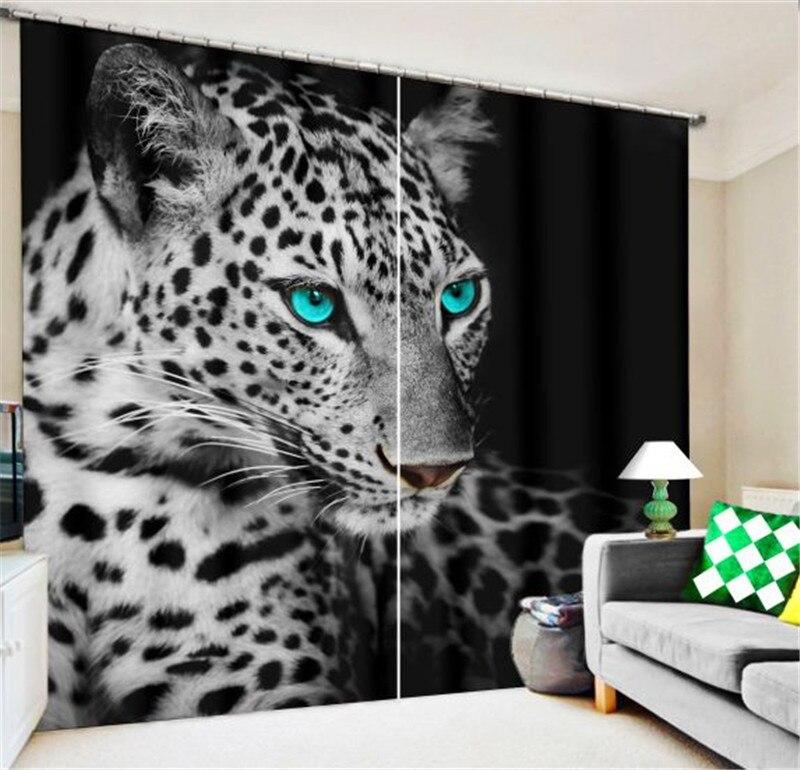 동물 흑백 호랑이 럭셔리 블랙 아웃 3d 창 커튼 거실 침실 커튼 cortinas rideaux 사용자 정의 크기-에서커튼부터 홈 & 가든 의  그룹 1
