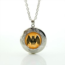 2017 Collier Maxi Necklace Trendy Collares Limited New Fashion Vampire Bat , Halloween Gifts, Specimen Photo, Wedding T546(China)