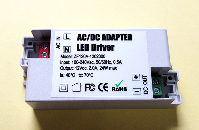 10pcs 12v 2a 24w led driver acdc adapter transformer for led strip 10pcs 12v 2a 24w led driver acdc adapter transformer for led strip rgb ceiling aloadofball Images