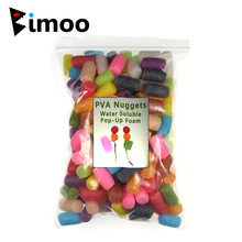 Bimoo 1Bag Souluble Carp Fishing PVA Nuggets Rig Skum Farget Vannoppløselig Pop Up