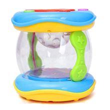 Plastic Roll LED Drum Music Instruments Preschool Kids Children Toddler Baby Toy, Drum