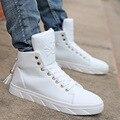 Sapatas dos homens de moda homens sapatos casuais primavera/outono ao ar livre respirável masculinos zapatos de Couro Genuíno Lace-up de Alta Ajuda zapatillas
