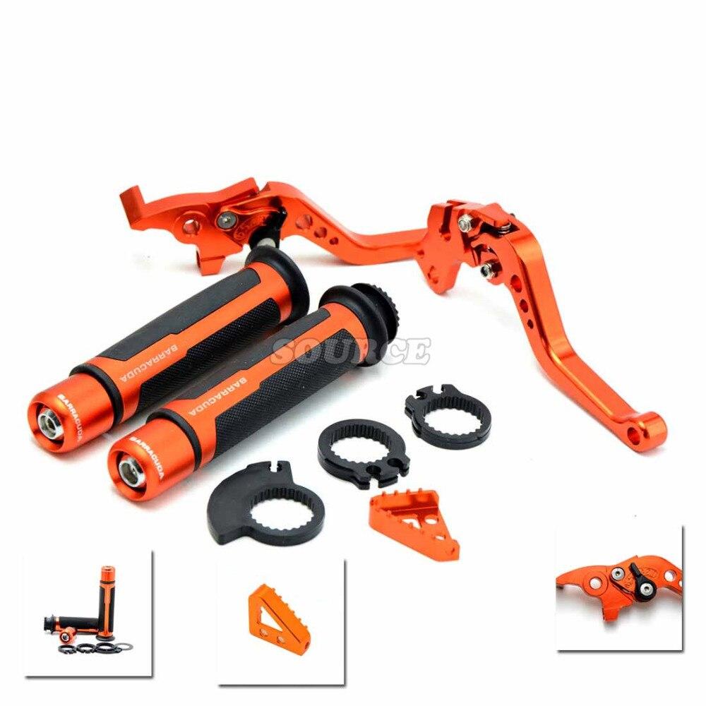 motorcycle brake clutch levers handlebar handle bar grips ends For ktm 690 Duke 390 Duke 690 SMC 690 Duke R 1290 Super Duke R
