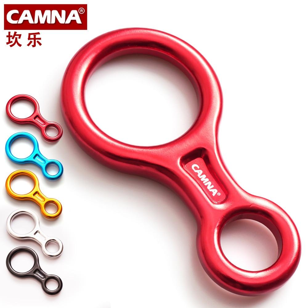 CAMNA наружный алюминиевый Магниевый сплав скалолазание 8 слов кольцо 35 кН круглый обруч устройство для спуска вниз медленно вниз спуск