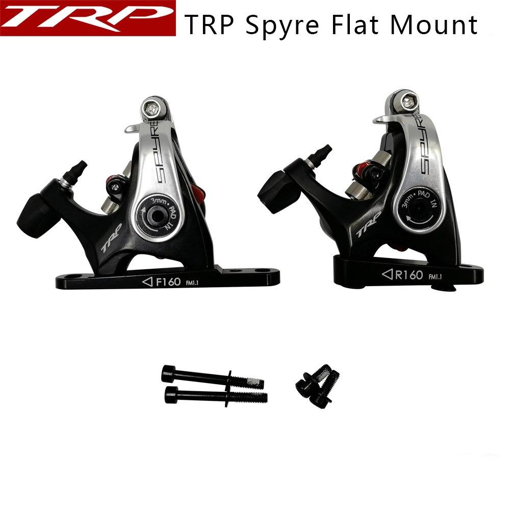 TRP Spyre freins à vélo à montage plat mécanique double actionnement latéral étrier de frein à disque avant arrière 160mm étriers w/ou w/o Rotor
