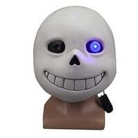 Jeu sous-conte masques Sans masque Latex lumière LED pleine tête adulte Cosplay masque Halloween fête Porp